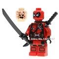 Sola venta dc marvel avengers super hero deadpool classic mini colección de muñecas los niños de auto-bloqueo juguetes de regalo
