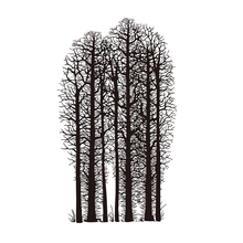 forest scene Transparent Clear Silicone Stamp/Seal for DIY scrapbooking/photo album Decorative tree clear stamp essence кисть для губ angled lip brush