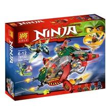 LELE 79122 Phantom Ninja Rotary Fighter Bricks Toys Minifigures Building Block Toys Compatible with Legoe