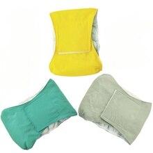 Водонепроницаемые подгузники для домашних животных, мужские подгузники для собак, дышащие физиологические штаны для собак, подгузники для живота, гигиенические штаны