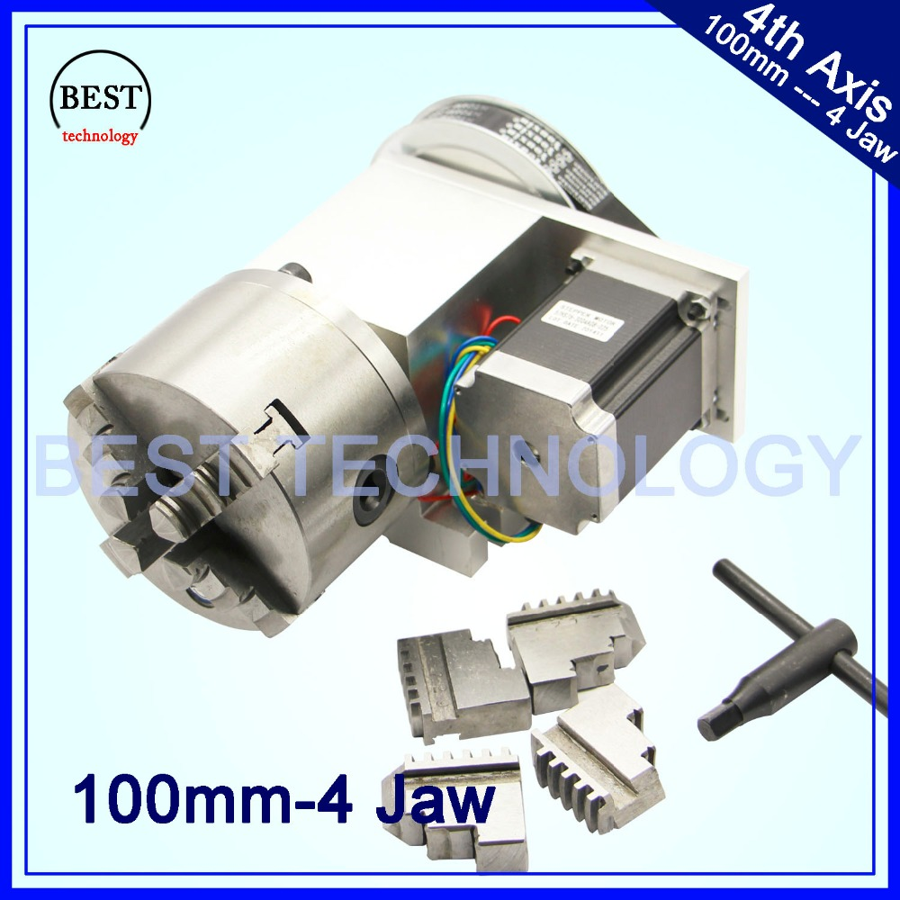 4 Jaw 100mm CNC 4th Axis Reduction ratio 6 1 CNC dividing head Rotation A axis