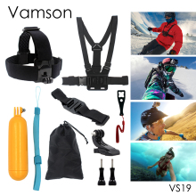 Gopro Accessories 9 in 1 Kit Chest Body Strap Tripod Floaty Bobber Monopod Wrench For Gopro Hero 5 4 3+ Xiaomi Yi Camera VS19