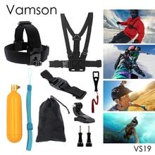 Gopro Accessories 9 in 1 Kit Chest Body Strap Tripod Floaty Bobber Monopod Wrench For Gopro Hero 5 4 3+ Xiaomi Yi Camera VS19
