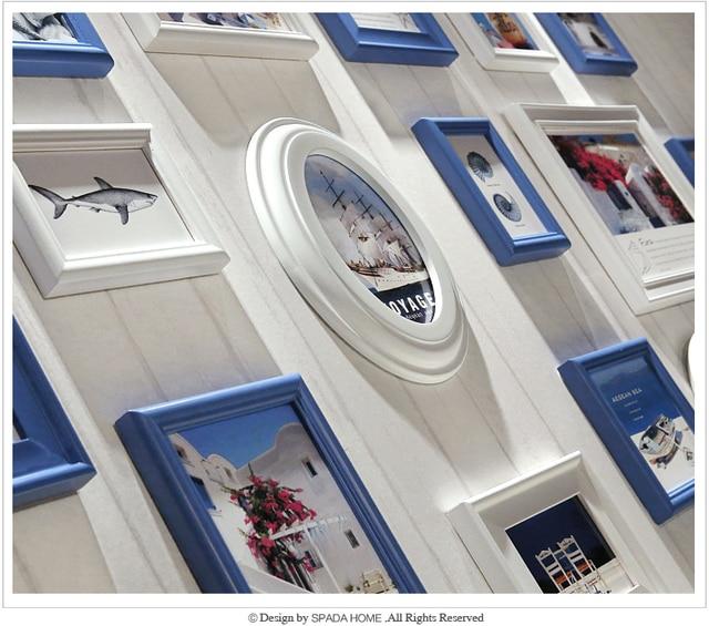 Colores Multi 16 piezas marco de madera, estilo mediterráneo Porta ...