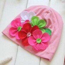 Дешевые цена от производителя! Девочки Cap шапки зима теплая 3D цветок головной убор шапочка Earflap шляпе обложки