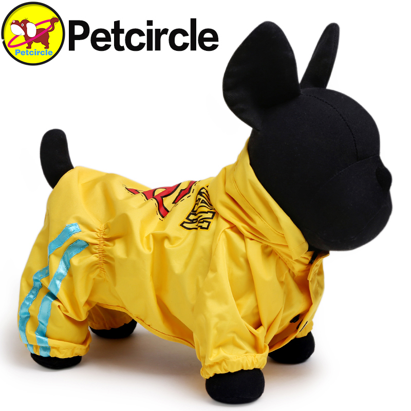 2017 Petcircle Hot Sale Dog Raincoat Clothing High Quality New Fashion Waterproof Breathable 2 Color Dog Clothes