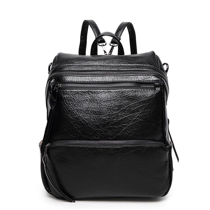 ФОТО 2016 New Big pu Leather Shoulder Bag Fashion Leisure Female Laptop Backpack School Bags For Teenagers