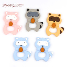 Mother Kids - Baby Care - TYRY.HU Silicone Raccoon Teether Silicone Teething Beads Rubber Teething Ring Babies Beads Carrier Baby Safety Holder Accessory