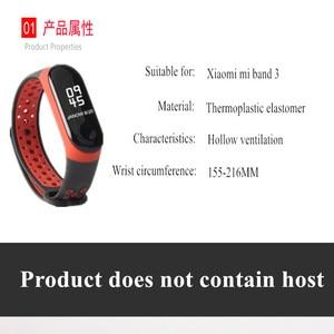 Image 3 - Armband mi Band 3 4 strap sport Silikon für Xiao mi mi band 3 4 strap uhr handgelenk mi band 3 4 zubehör mi band3 armband smart