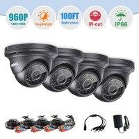 SANNCE аналоговый безопасности Камера 130 Вт AHD PAL 960 P IP66 всепогодный Ночное видение День Ночь IR CUT CMOS 3,6 мм Камеры скрытого видеонаблюдения