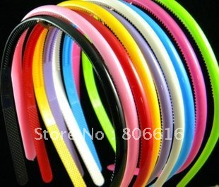 8MM/W 50PCS Mixed Color Acrylic Plastic Hairband Headband DIY Hair Clips Jewelry Accessory Findings