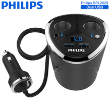 Philips 3.1A Car Charger Quick Charge 2.0 Dual USB Port Mobile Phone Charger For iPhone Samsung Xiaomi Huawei iPad Car-Charger