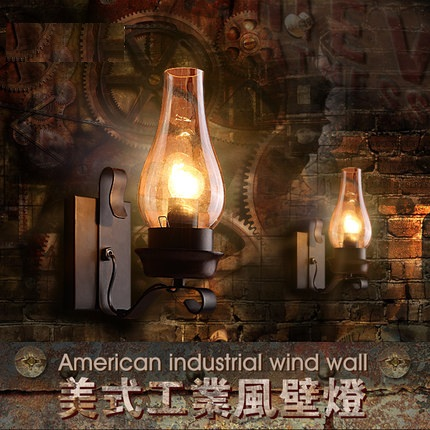 Loft Style Iron Glass Industrial Wall Lamp Antique Edison Wall Sconce Vintage Wall Light Fixtures For Home Lighting Lampara loft style iron edison wall sconce industrial lamp wheels vintage wall light fixtures antique indoor lighting lampara pared