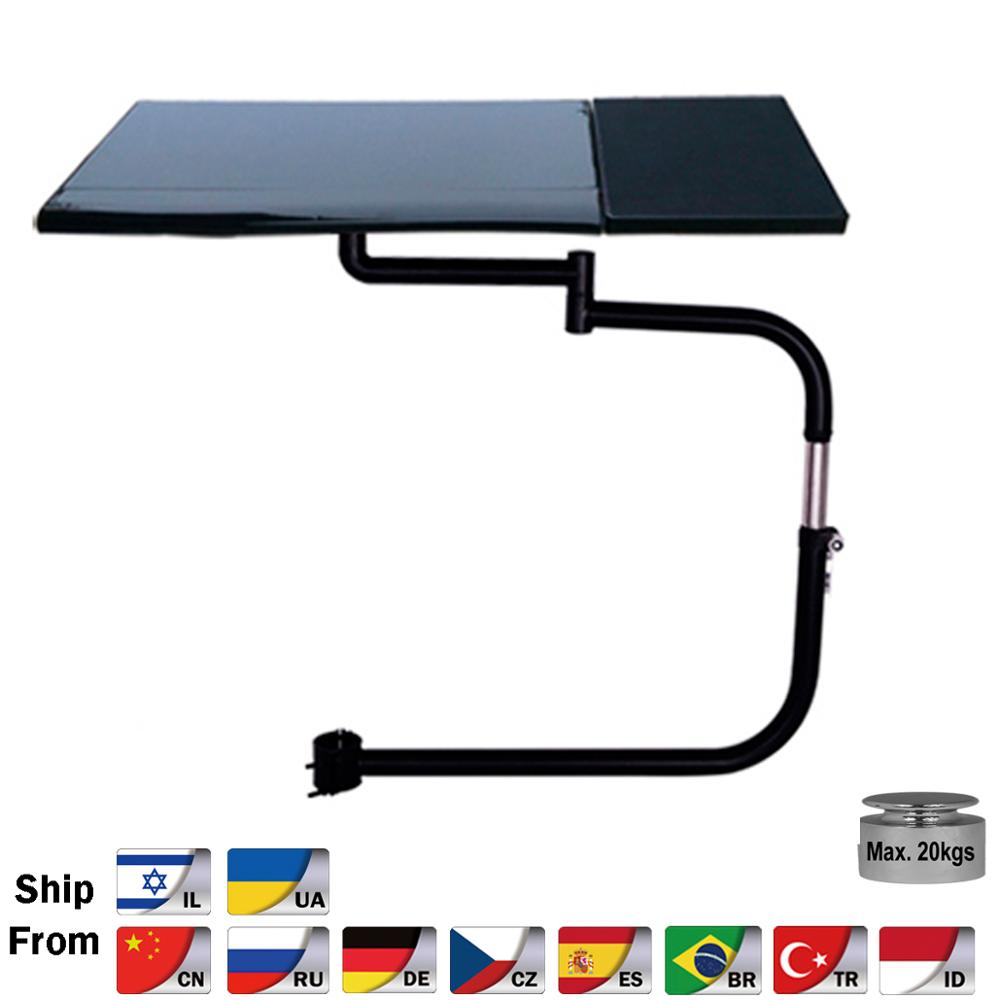BL OK030 Multifunctional Full Motion Chair Clamping Keyboard Support Laptop Desk Holder Mouse Pad for Comfortable