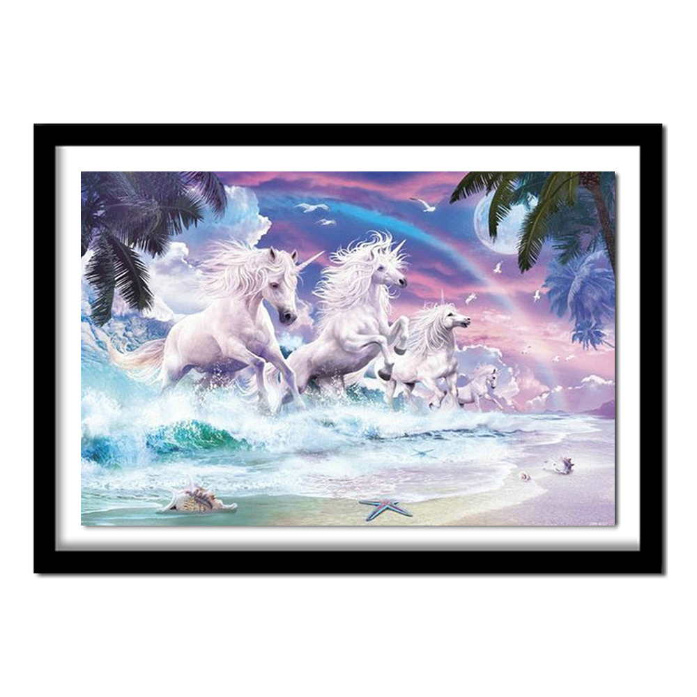 5D Diamond Embroidery Painting Sea Horse Cross Stitch DIY Craft Home Decor