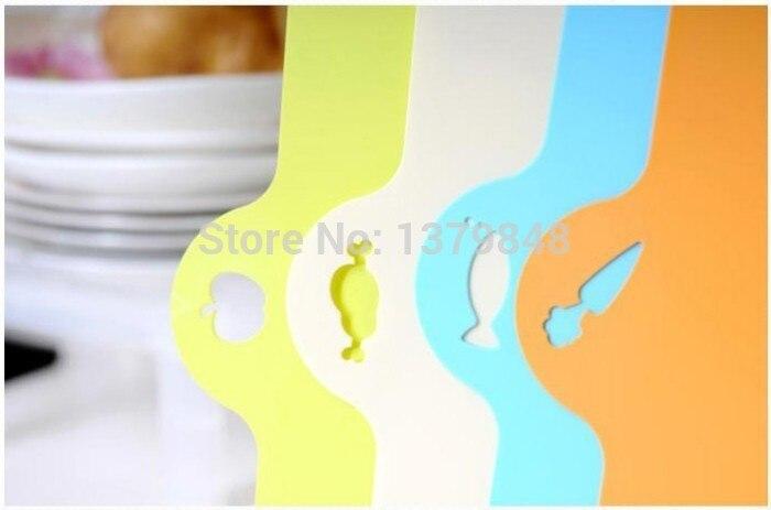 4 PCS/LOT kitchen flexible antibiotic resistant soft chopping block cutting board hang plastic chopping board