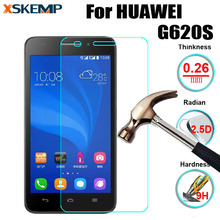 2.5D 0.26mm 9H Premium Tempered Glass For Huawei Ascend G620S Screen Anti Shatter Protector Film No Fingerprint Case Cover Guard