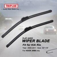Wiper Blade For KIA Rio 2005 2011 1set 22 16 Flat Aero Beam Windscreen Rio Hatchback