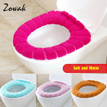 Toilet Seat Cover Bathroom Soft Lid Cover Washable Warm Thick Tank Mat  Accessories Pad Pads(