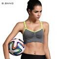 B.BANG Hot Women Wire Free Bras Padded Shakeproof Top Adjustable Seamless Underwear Bras Candy Color Free Shipping