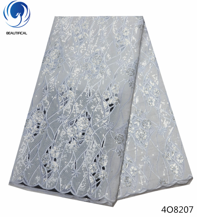Beautifical double organza lace organza lace fabrics with sequins white african lace fabric for lady wedding 5yards/piece 4O82Beautifical double organza lace organza lace fabrics with sequins white african lace fabric for lady wedding 5yards/piece 4O82