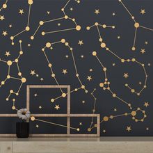 Zodiac Constellations Wall Vinyl Sticker Stars Decals For Boys Bedroom Nordic Nursery Room Decoration DIY NR43