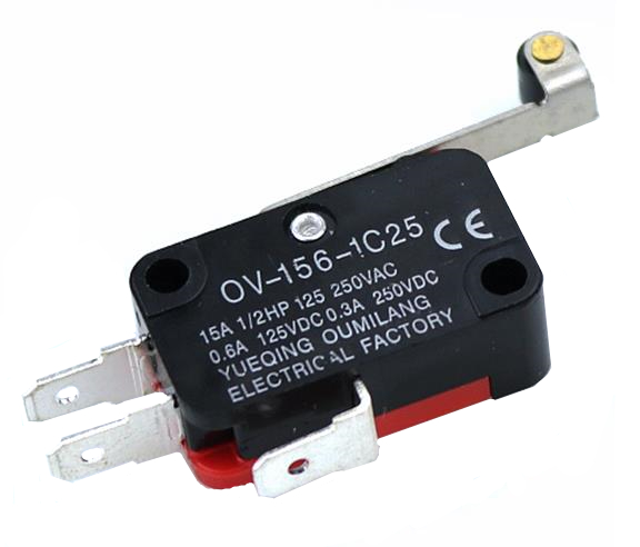 1PCS V-156-1C25 15A The Micro Switch,  Push Button SPDT Momentary Snap Action Limit Switch, Travel Switch,