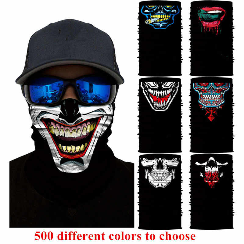 Halloween Horror Skull Mask Party Festive Supply Easter Scary Mask Magic Headscarf Men Women Headband Children O Ring Scarf H8