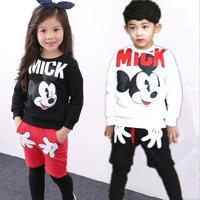Spring 2016 Children With Korean Children Of Foreign Trade Letters Set Cotton Coats Zipper Cartoon Set