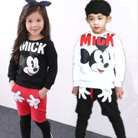 Spring 2016 Children With Korean Children Of Foreign Trade Letters Set Cotton Coats Zipper Cartoon Set
