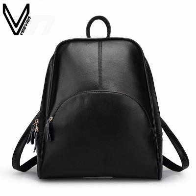6962e5aeb3 2016 Campus New Fashion Women Backpack PU Leather School Bag Girls Casual  Style Shoulder Backpack Student New Book Bags Women-in Backpacks from  Luggage   ...