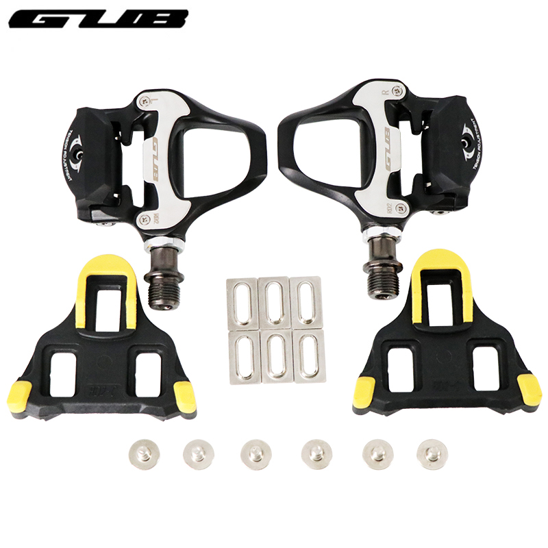 GUB New Ultralight Road Bike Self locking Pedals with Road Riding Plate Aluminum Alloy Road Bicycle