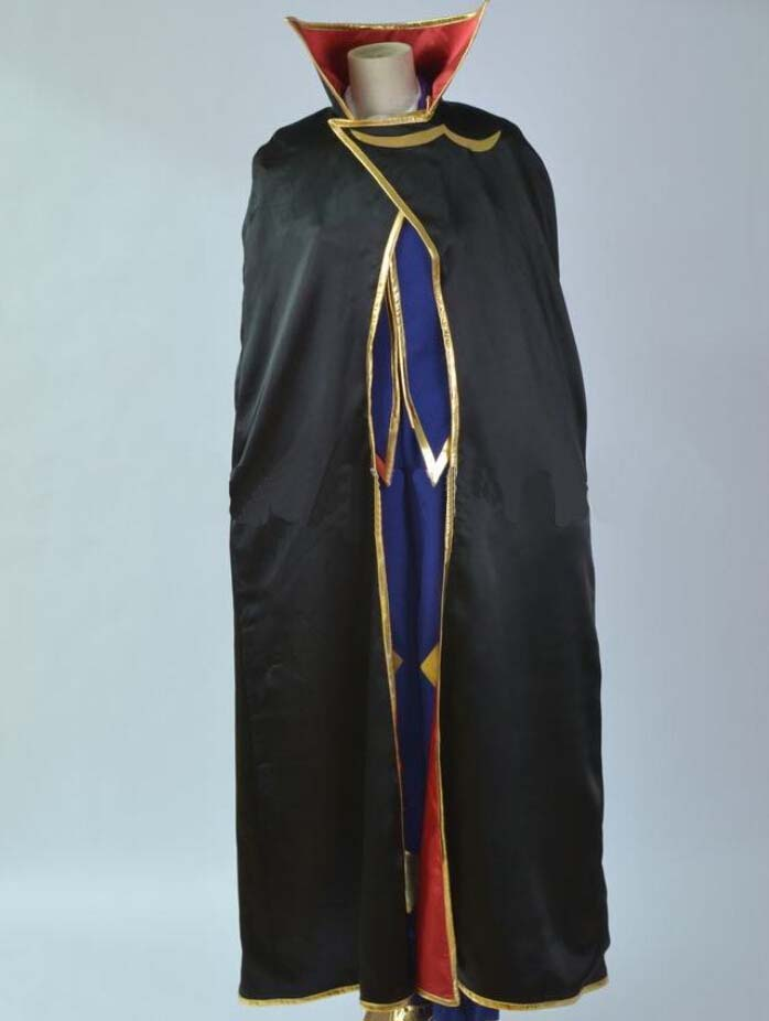 Japan Anime Code Geass Costumes Awsome Black Suit Full Set Customized Any Size on Sale for Halloween Party KSP028