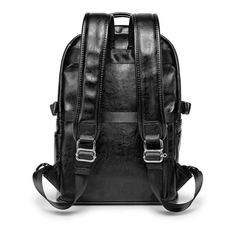 Для мужчин мягкий кожаный рюкзак высококачественный Молодежный Рюкзак Школьная Сумка мужская сумка для ноутбука рюкзак в деловом стиле рюкзак сумка через плечо
