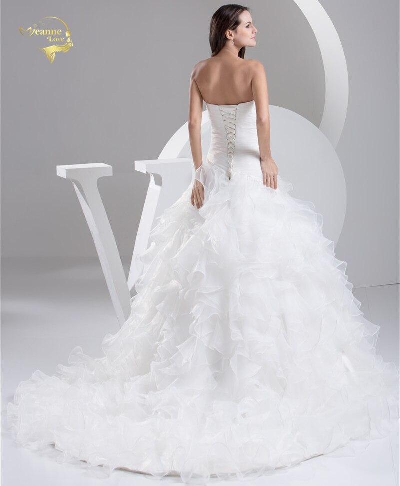 2016 Vit Louisvuigon Vestido De Noiva Robe De Mariage Brudklänningar - Bröllopsklänningar - Foto 2