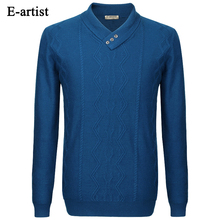 Men's Business Casual V-Neck Knitted Wool Pullover Sweaters Autumn Winter New Long Sleeve Slim Fit Tops Plus Size 5XL M01
