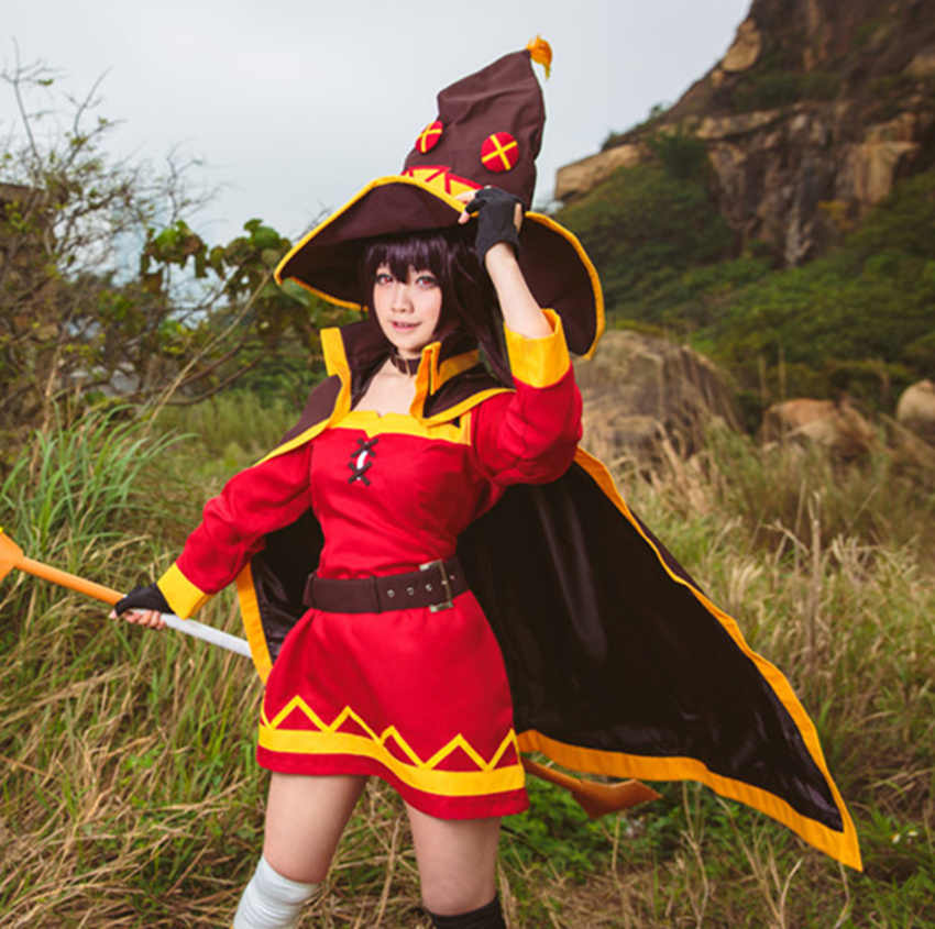 KonoSuba God's Blessing On This Wonderful World Witcher Cosplay Magicians Megumin Cosplay Costumes for Sale