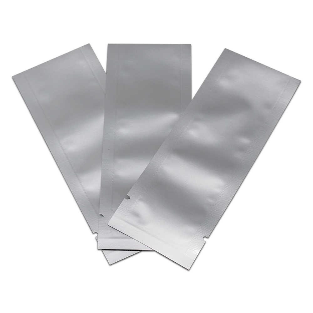 200PCS Longo Tamanho do Pacote De Armazenamento Selo de Vácuo Saco de Topo Aberto Pura Da Folha de Alumínio para o Café Em Pó Doces Pacote de Calor selo Bolsas de Mylar