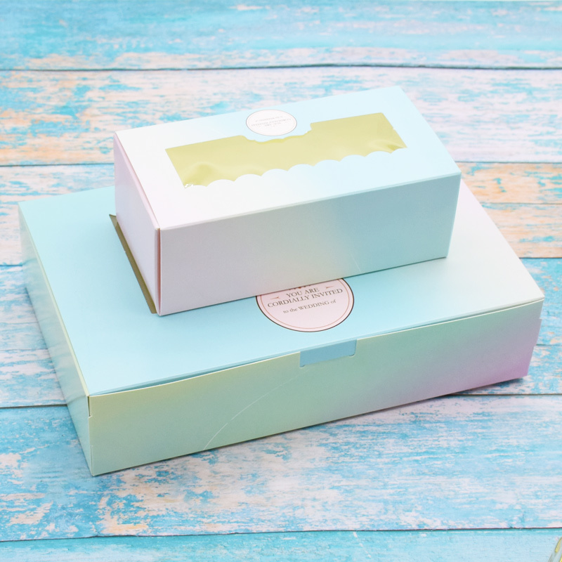 50 Pcs Gift Paper Box With Window Birthday Wedding Party Kraft Paper Box Packaging Candy Cookies Cup Cake Gift Boxes Cardboard