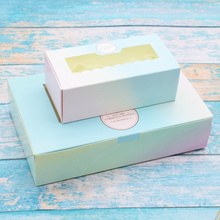 50 Pcs Gift Paper Box With Window Birthday Wedding Party Kraft Paper Box Packaging Candy Cookies Cup Cake Gift Boxes Cardboard цена и фото