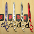 8 inch 22.5cm Japan Kasho Professional Dogs Cats Pets Hair Shears Hairdressing Scissors 23 Teeth Fishbone Thinning Shears H4004