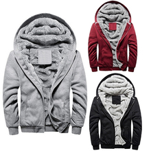 Männer Mode Winter Dicker Baumwolle Mantel Beiläufige Hoodies Jacke Outwear