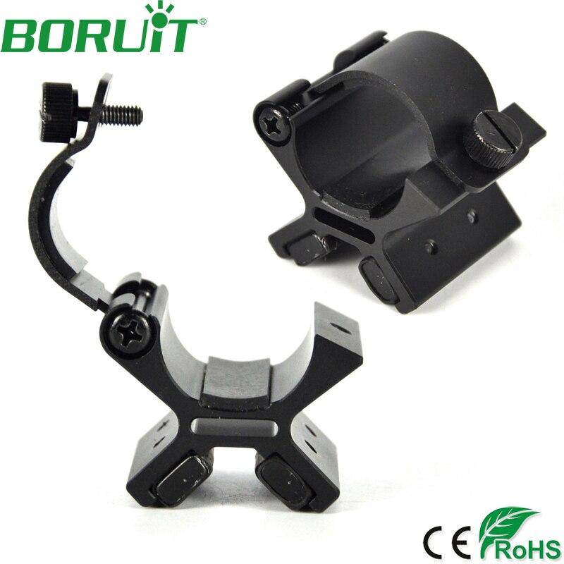 BORUIT Strong Dual Magnetic Flashlight Gun Mount Holder Lighting For Torch Flashlight Hunting X Tactical Mount with Original Box