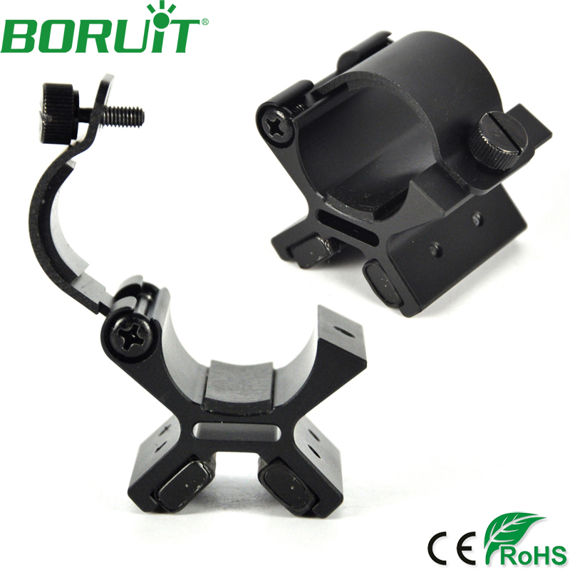 BORUIT Strong Dual Magnetic Flashlight Gun Mount Holder Lighting For Torch Flashlight Hunting X Tactical Mount