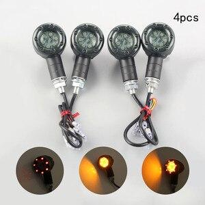 Image 3 - Clignotant pour motos LED, phare de course arrière feu stop, ambre LED, DC12V, 2 pièces/4 pièces