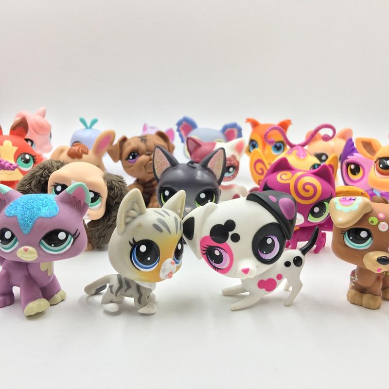 20Pcs/bag Little Animal Pet Model Toys Pet Shop Mini Cat Dog Old Lps Toys Action Figures Kids Toys