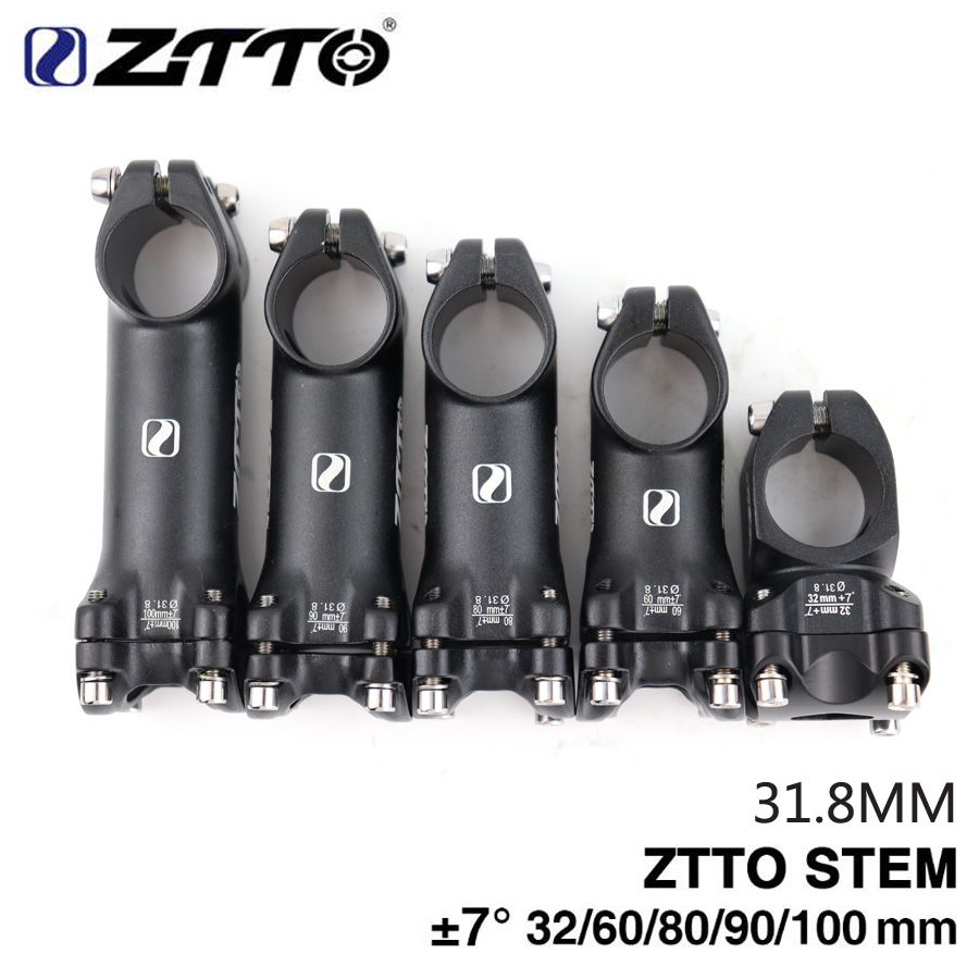 ZTTO Lightweight 31.8*32//60//80//90//100mm  Stem MTB Mountain Road Bike Bicycle