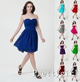 0204 purple wine red short chiffon strapless bridemaids bride maid party dresses new fashion 2014 junior bridesmaid dress