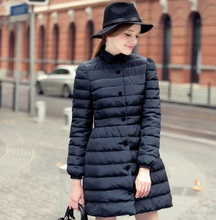 Winter Europe and the United States Slim Long section Down jacket
