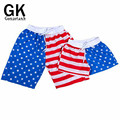 GONZETANK 2017 New Summer High Waisted American Flag Beach Men Women Bermuda Sweat Casual Jogger Cargo Shorts Size L-XXL
